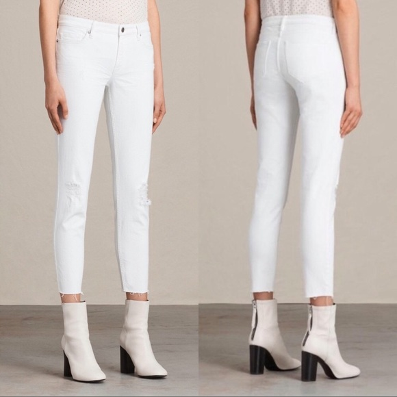 All Saints Denim - All saints Mast White Jeans